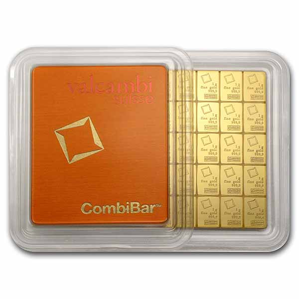 50x 1 gram Gold CombiBar™ - Valcambi (In Assay)