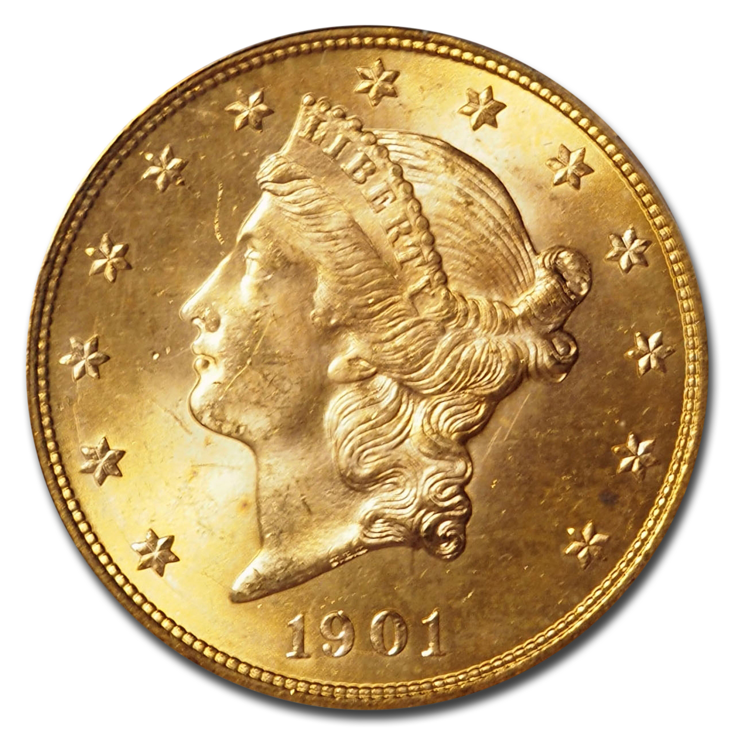 1901 $20 Liberty Gold Double Eagle MS-65 PCGS