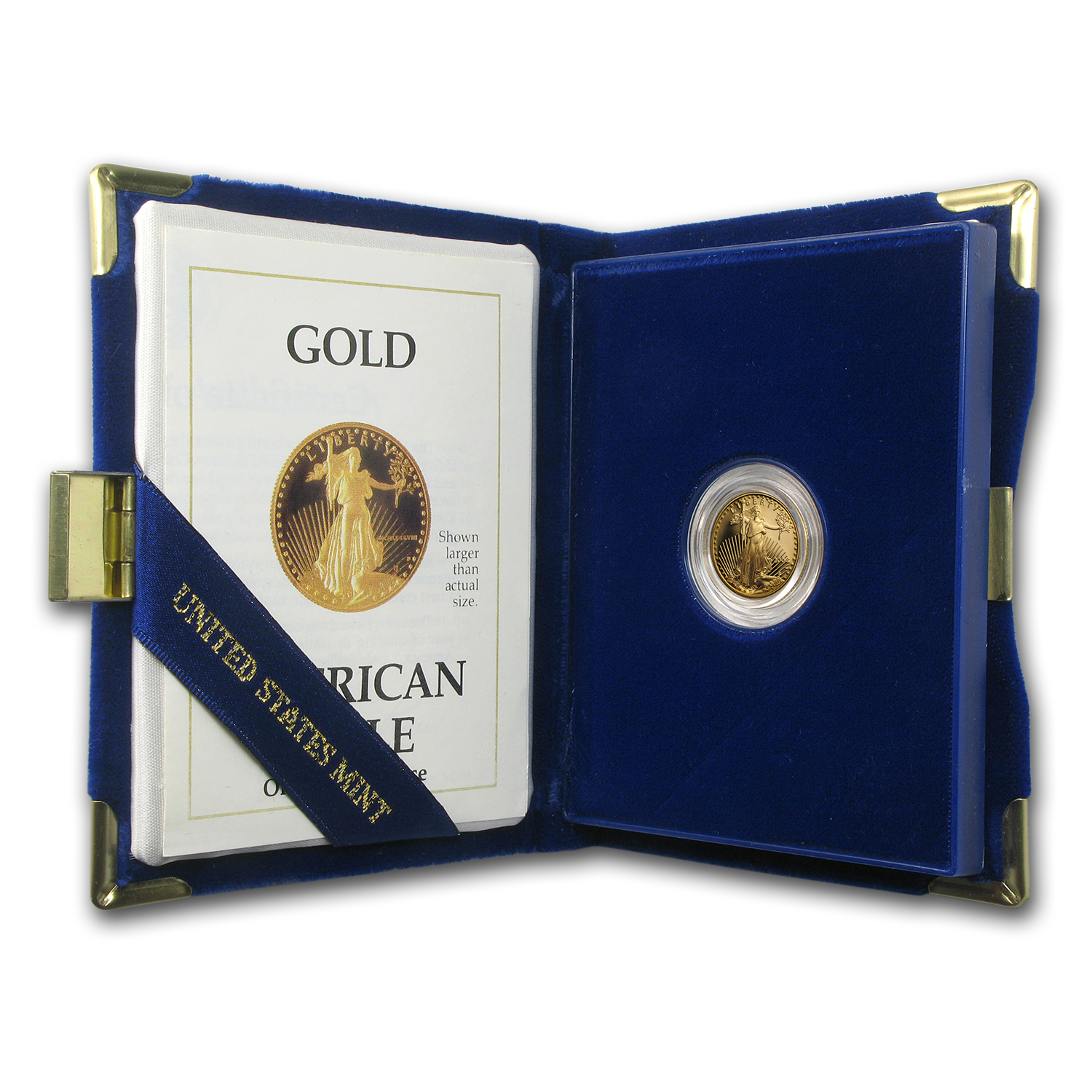 1989-P 1/10 oz Proof Gold American Eagle (w/Box & COA)