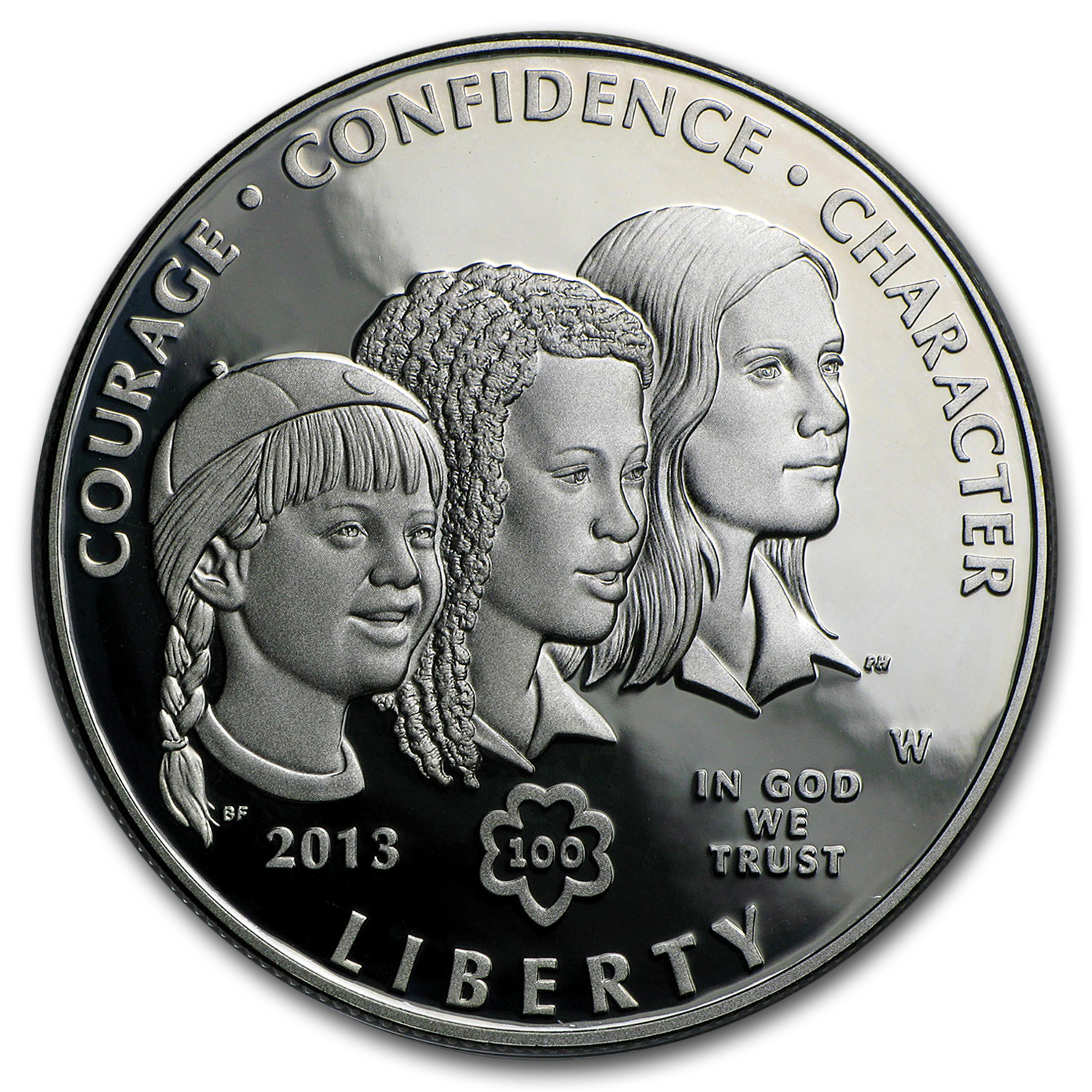 2013-W Girl Scouts $1 Silver Commem Proof (w/Box & COA)