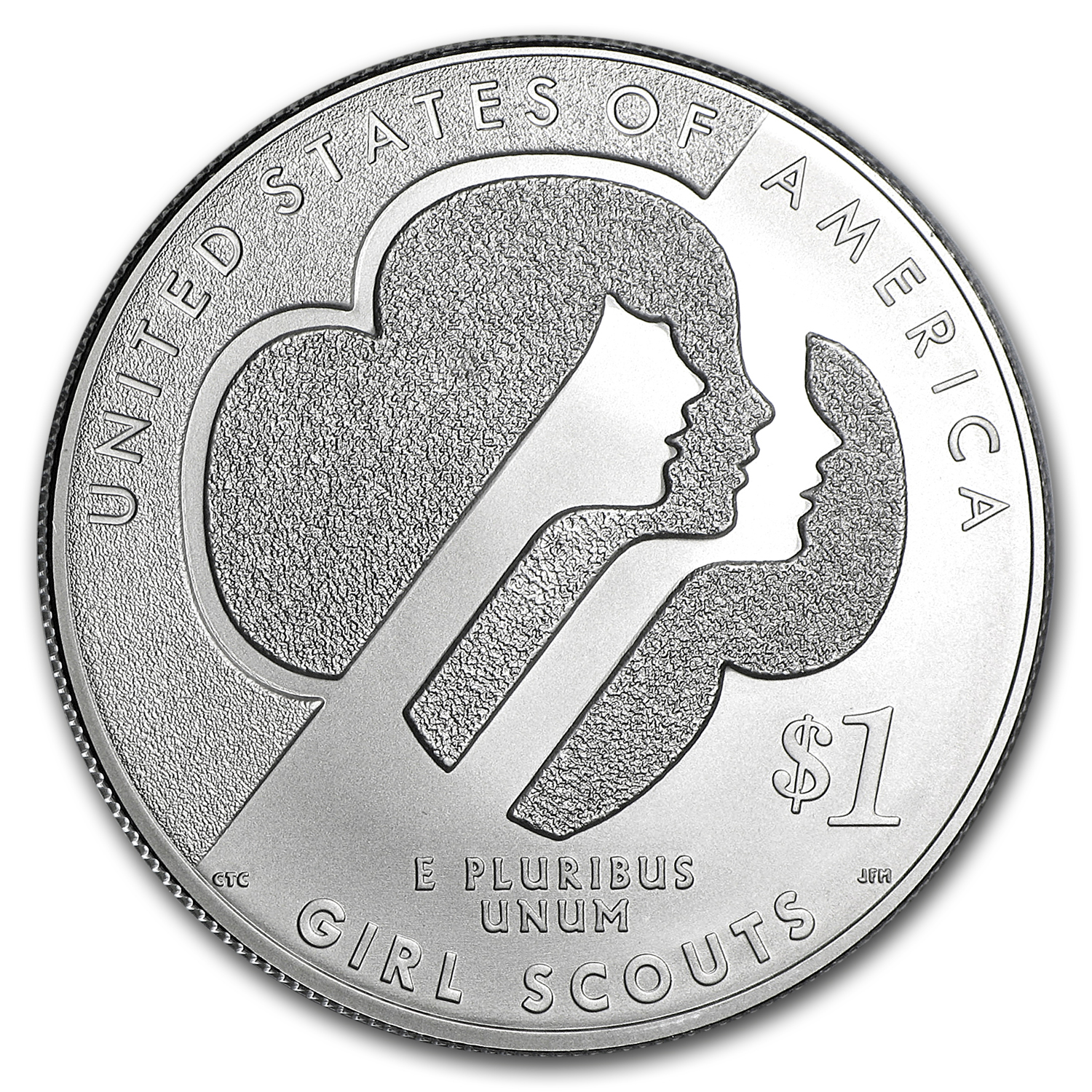 2013-W Girl Scouts $1 Silver Commemorative BU