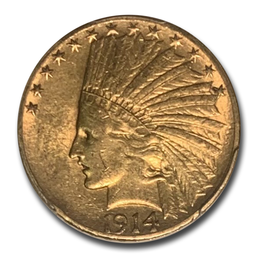1914-S $10 Indian Gold Eagle - XF-45 PCGS