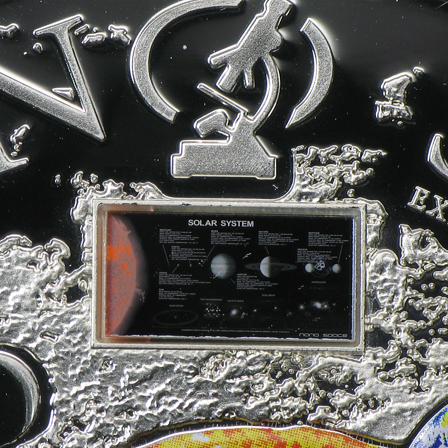 Cook Islands 2013 Silver $10 Nano Space - Exploration of Universe