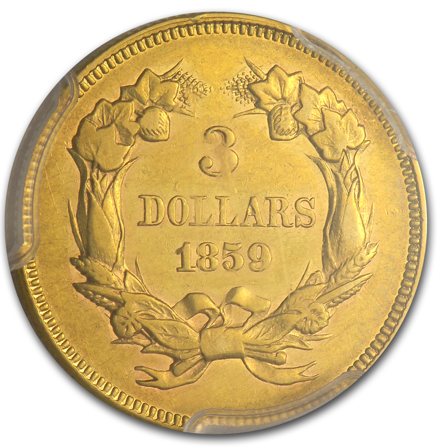 1859 $3 Gold Princess AU-53 PCGS