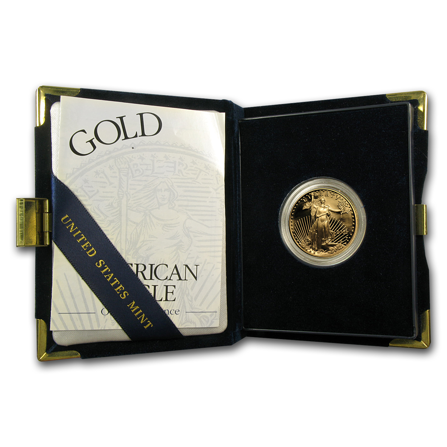 2001-W 1/2 oz Proof Gold American Eagle (w/Box & COA)