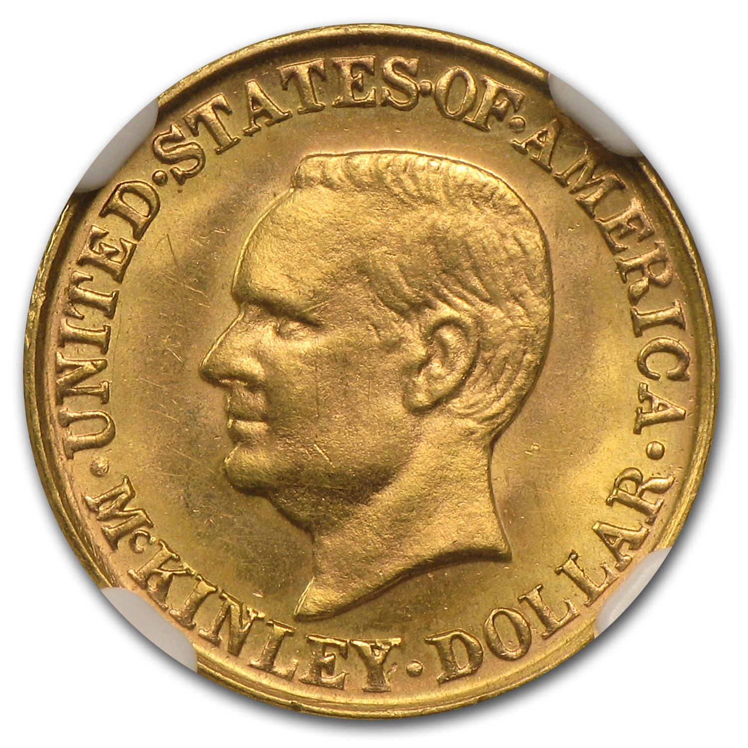 1917 $1.00 Gold McKinley MS-63 NGC