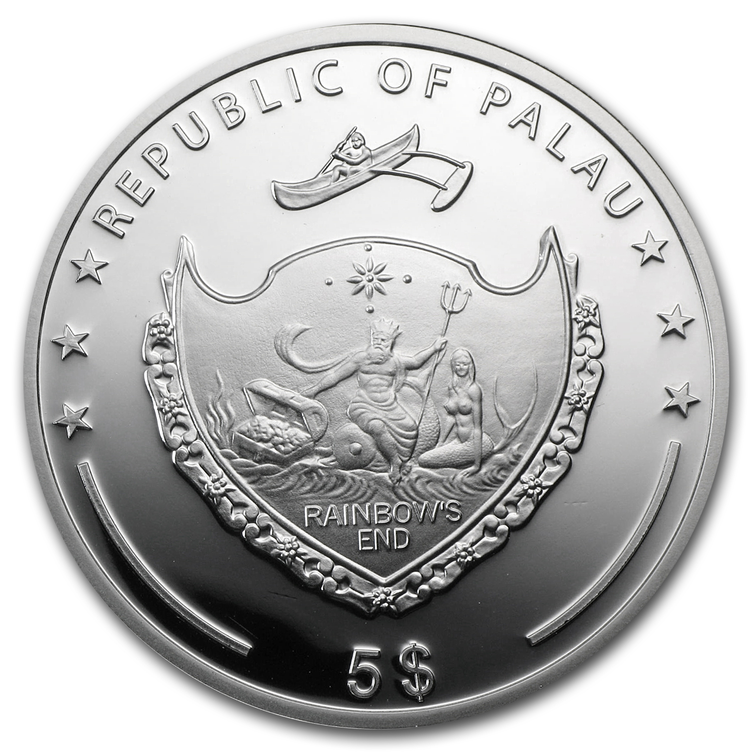 2013 Palau Silver $5 Marine Life Protection Secrets of the Sea