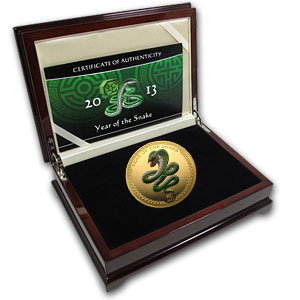 2013 Republic of Palau 5 oz Proof Gold Year of the Snake