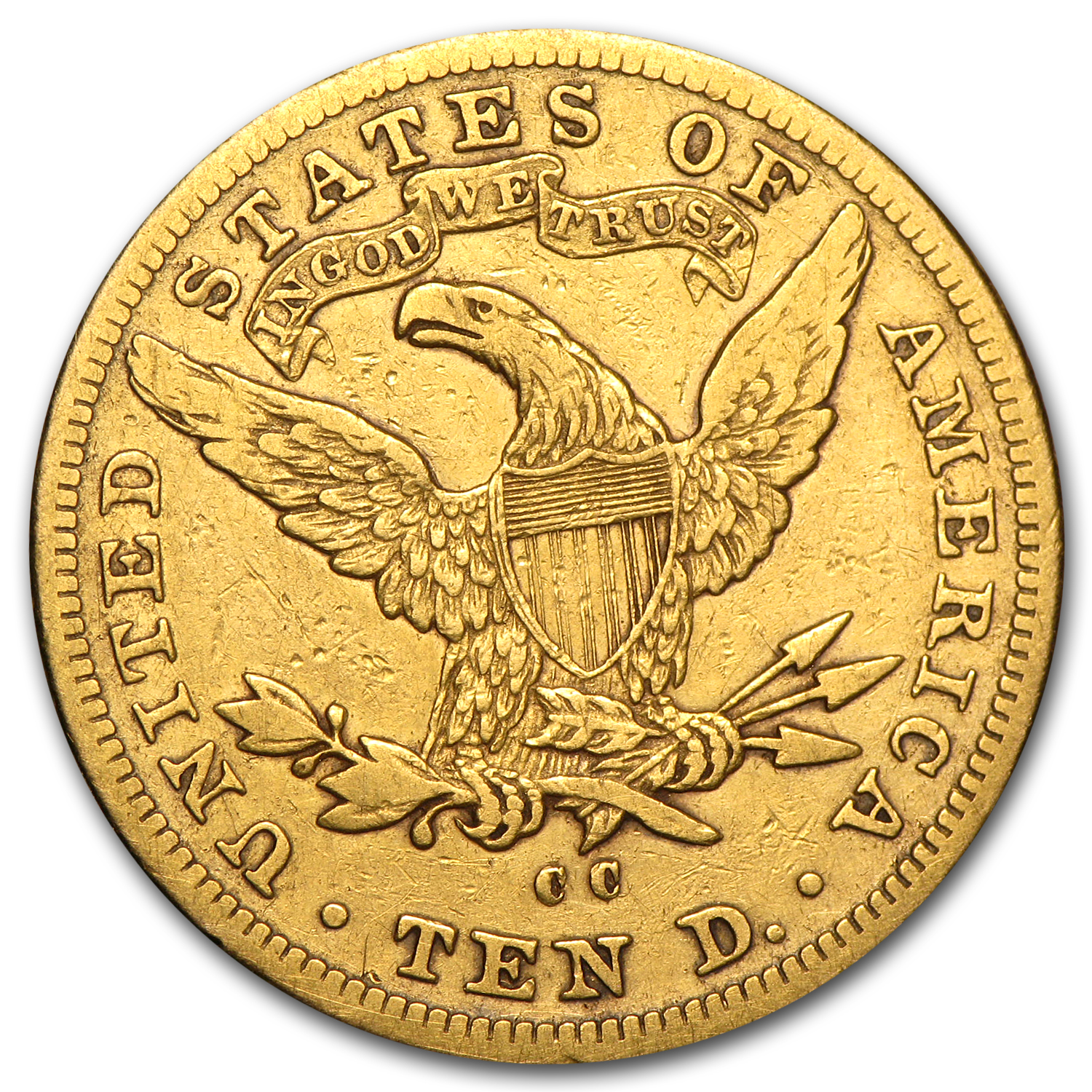 1891-CC $10 Liberty Gold Eagle - VF Details - (Cleaned)