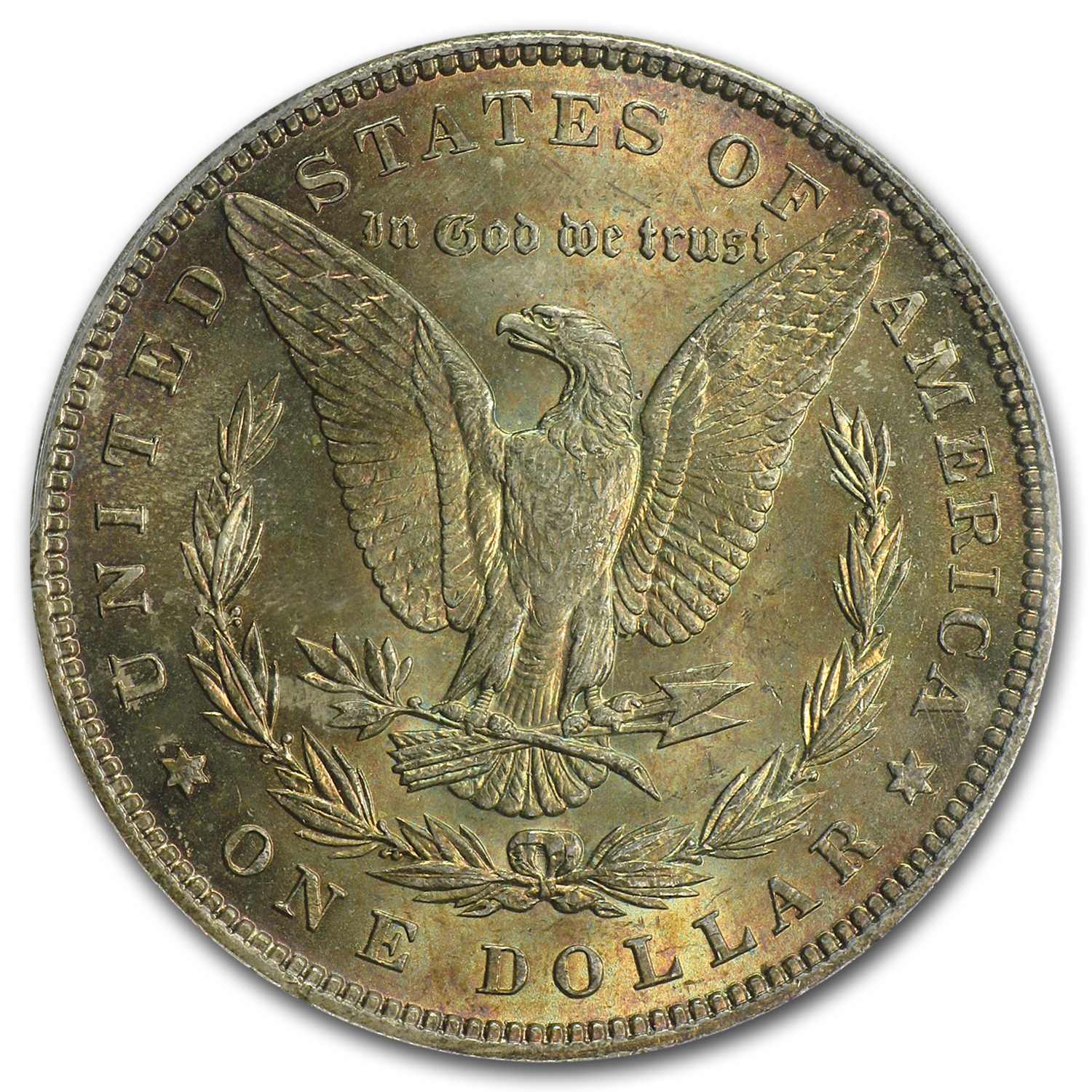 1896 Morgan Dollar MS-63 NGC (CAC, Nice Toning)