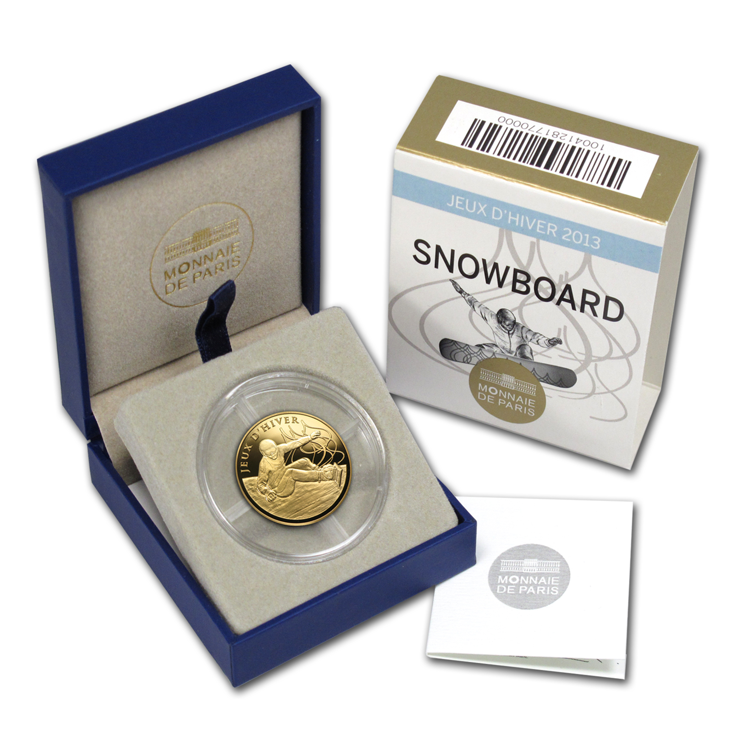 2013 1/4 oz Gold Sports Series Winter Games Snowboard