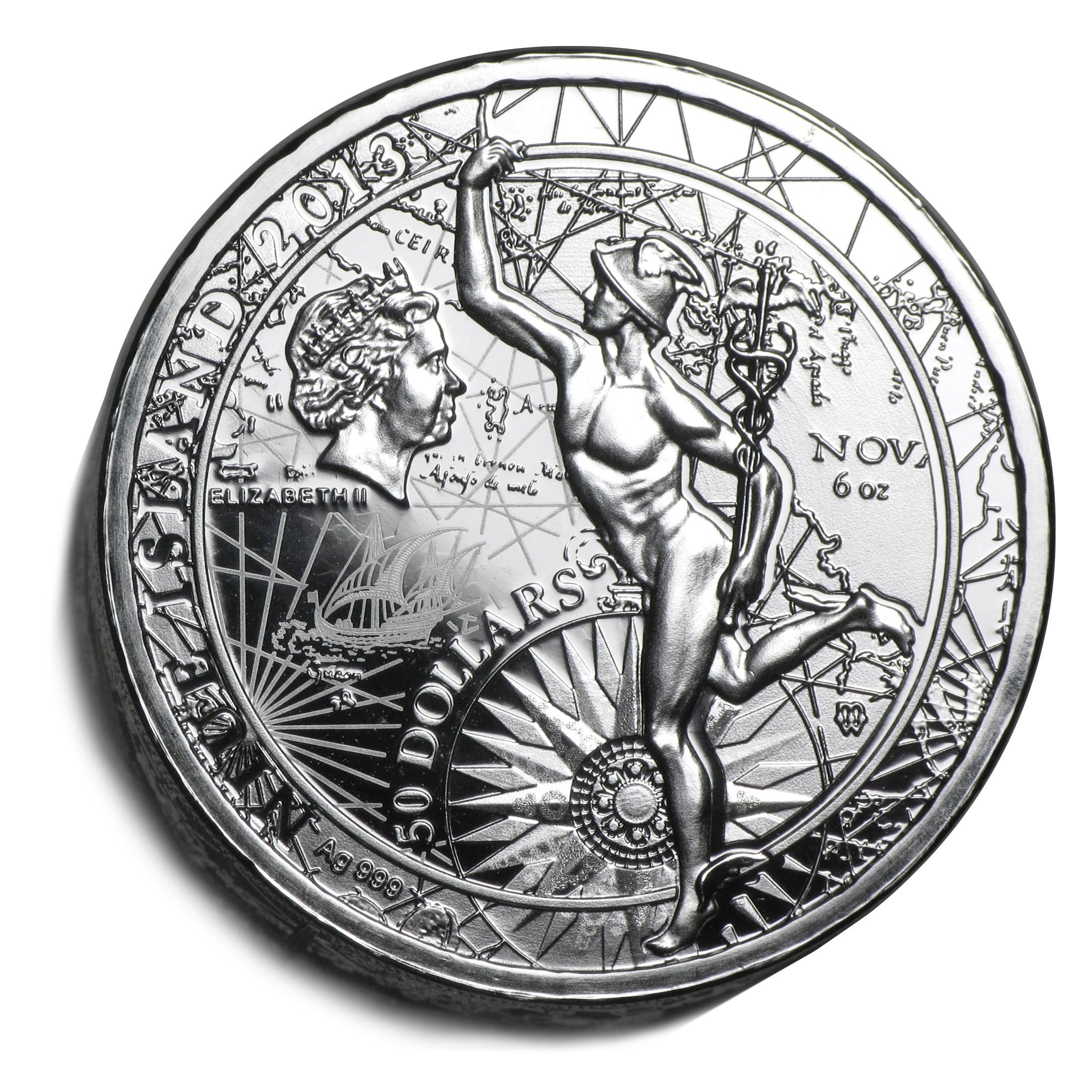2013 Niue Fortuna Redux Mercury Proof (First Cylinder Coin)