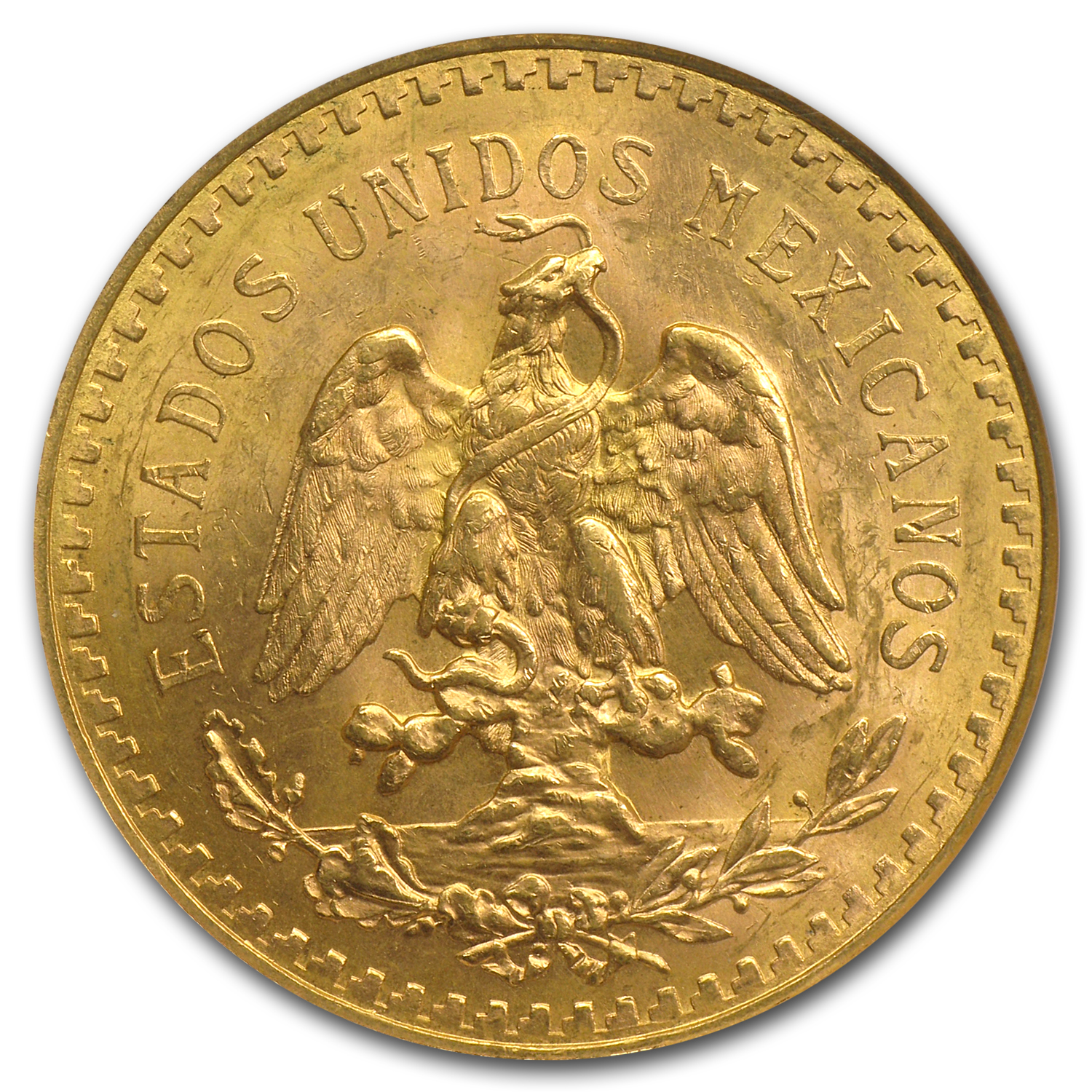 Mexico 1929 50 Pesos Gold Coin - MS-63 NGC