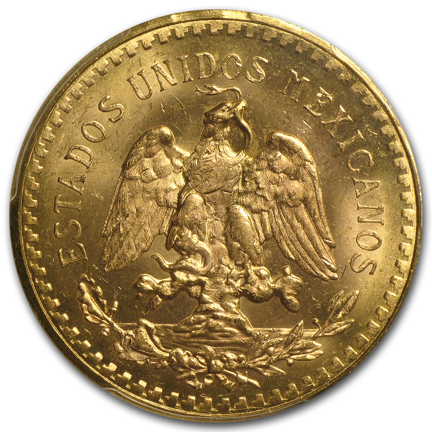 Mexico 1930 50 Pesos Gold Coin - MS-63 PCGS (Secure Plus!)