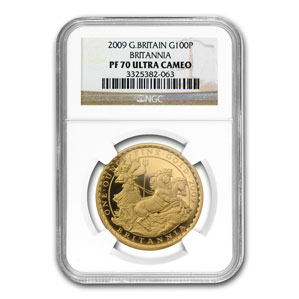 2009 4-Coin Proof Gold Britannia Set NGC PF-70 Ultra Cameo