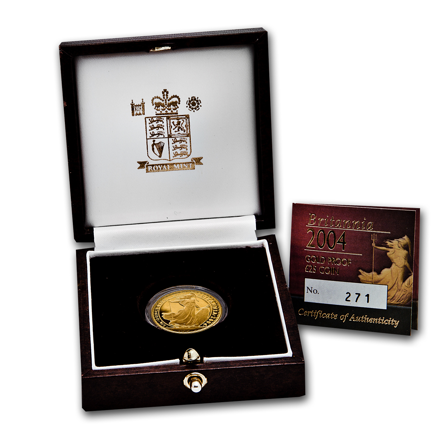 2004 1/4 oz Proof Gold Britannia (w/Box & COA)