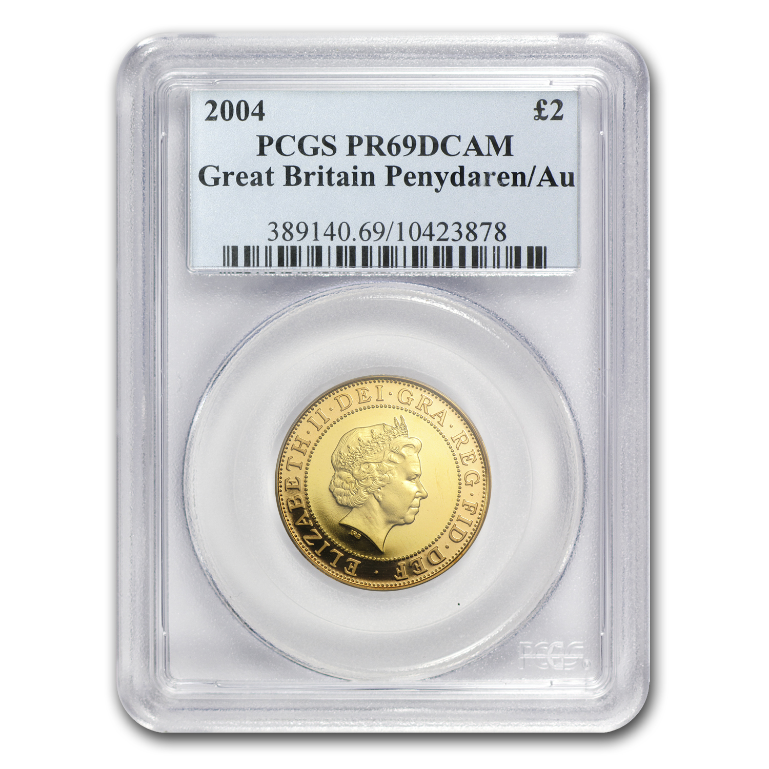 Great Britain 2004 Gold Penydaren PR-69 DCAM PCGS