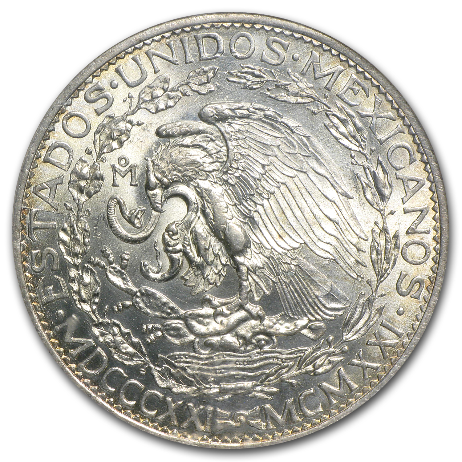 1921 Mexico Silver 2 Pesos Winged Victory MS-64 NGC