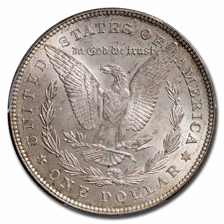 1878 Morgan Dollar - 7 Tailfeathers Reverse of 1878 MS-63 PCGS