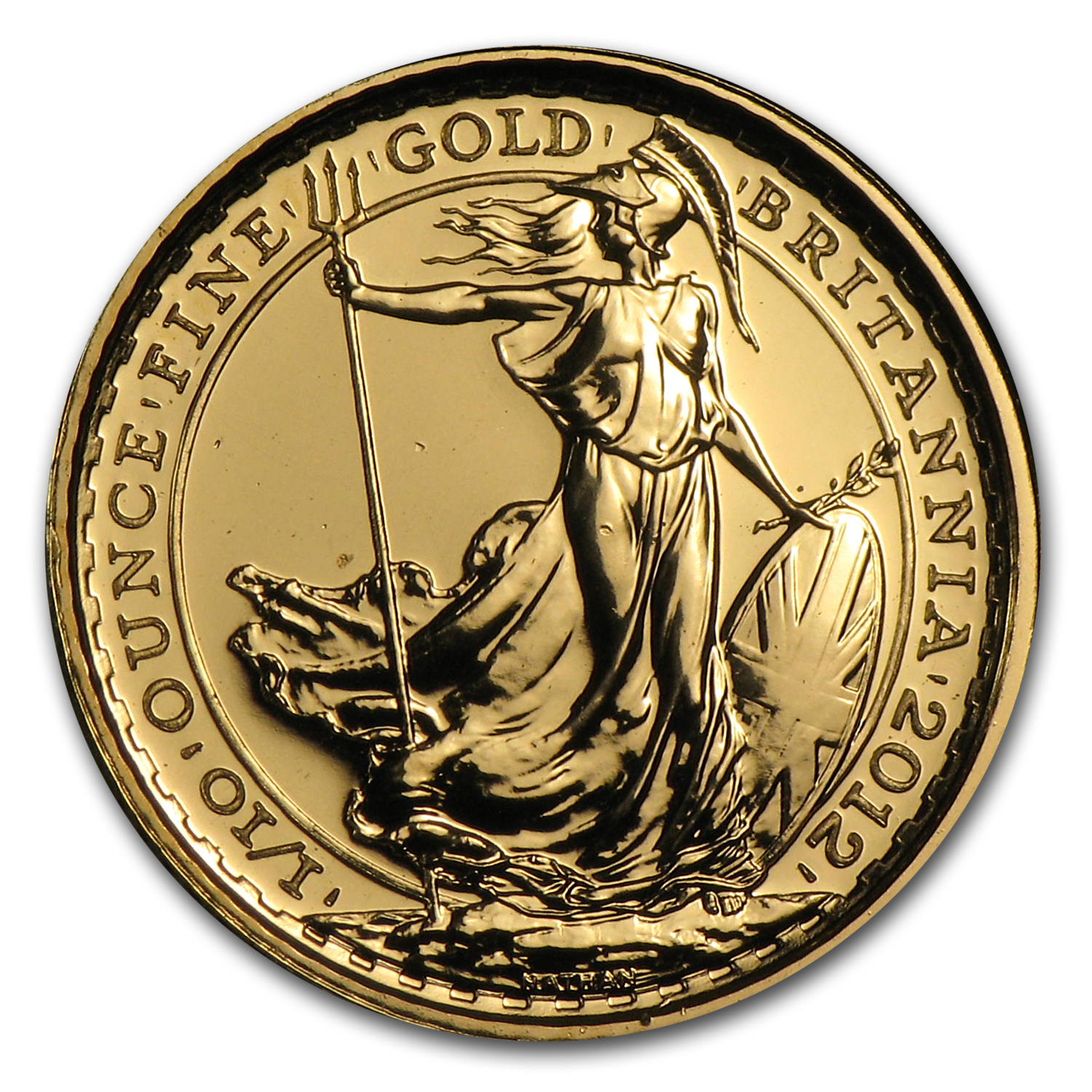 2012 Great Britain 1/10 oz Gold Britannia BU (25th Anniv)