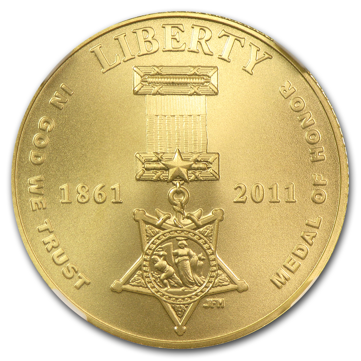 2011-P Gold $5 Commem Medal of Honor MS-70 NGC