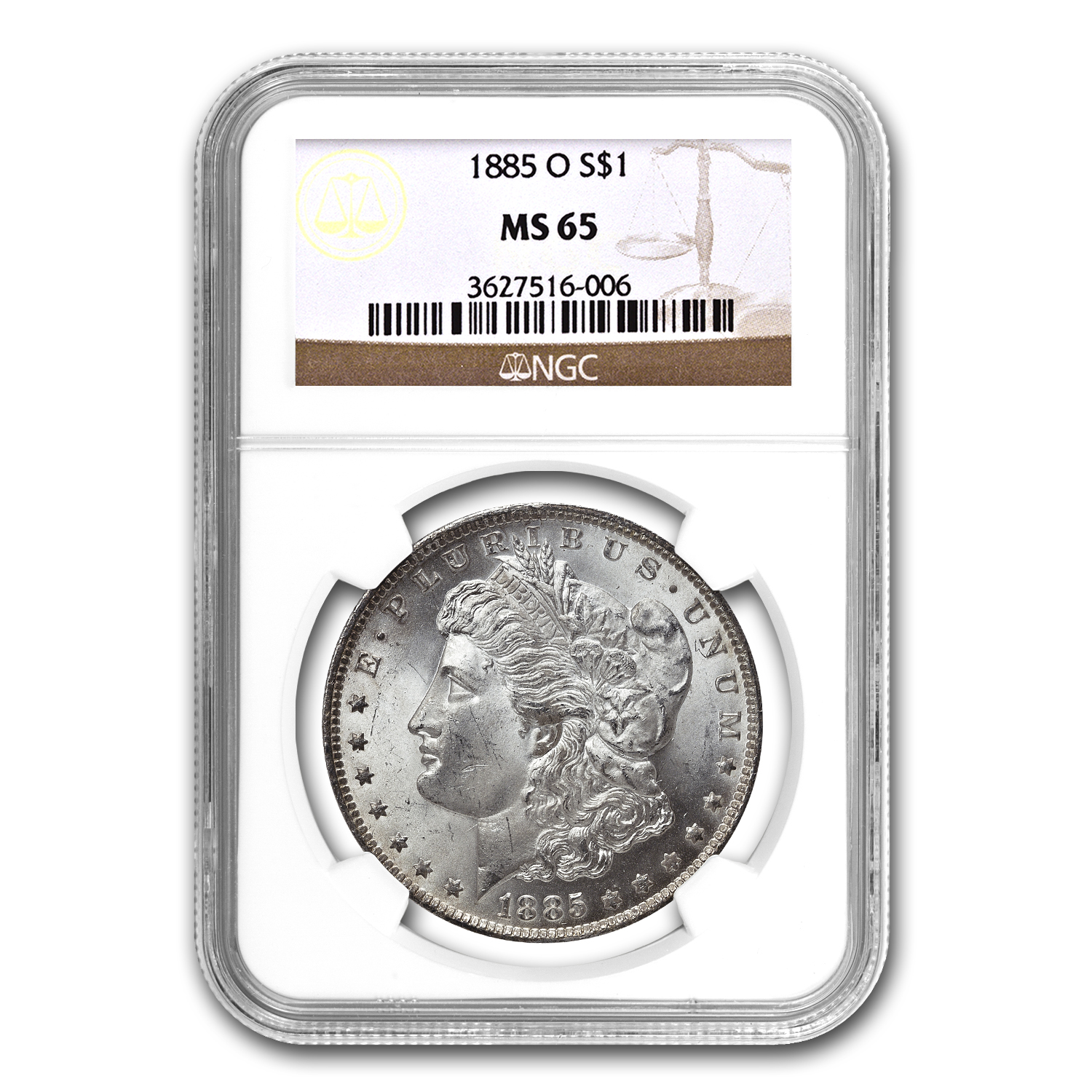 Morgan Dollar - 5 Coin Mintmark Set - MS-65 NGC