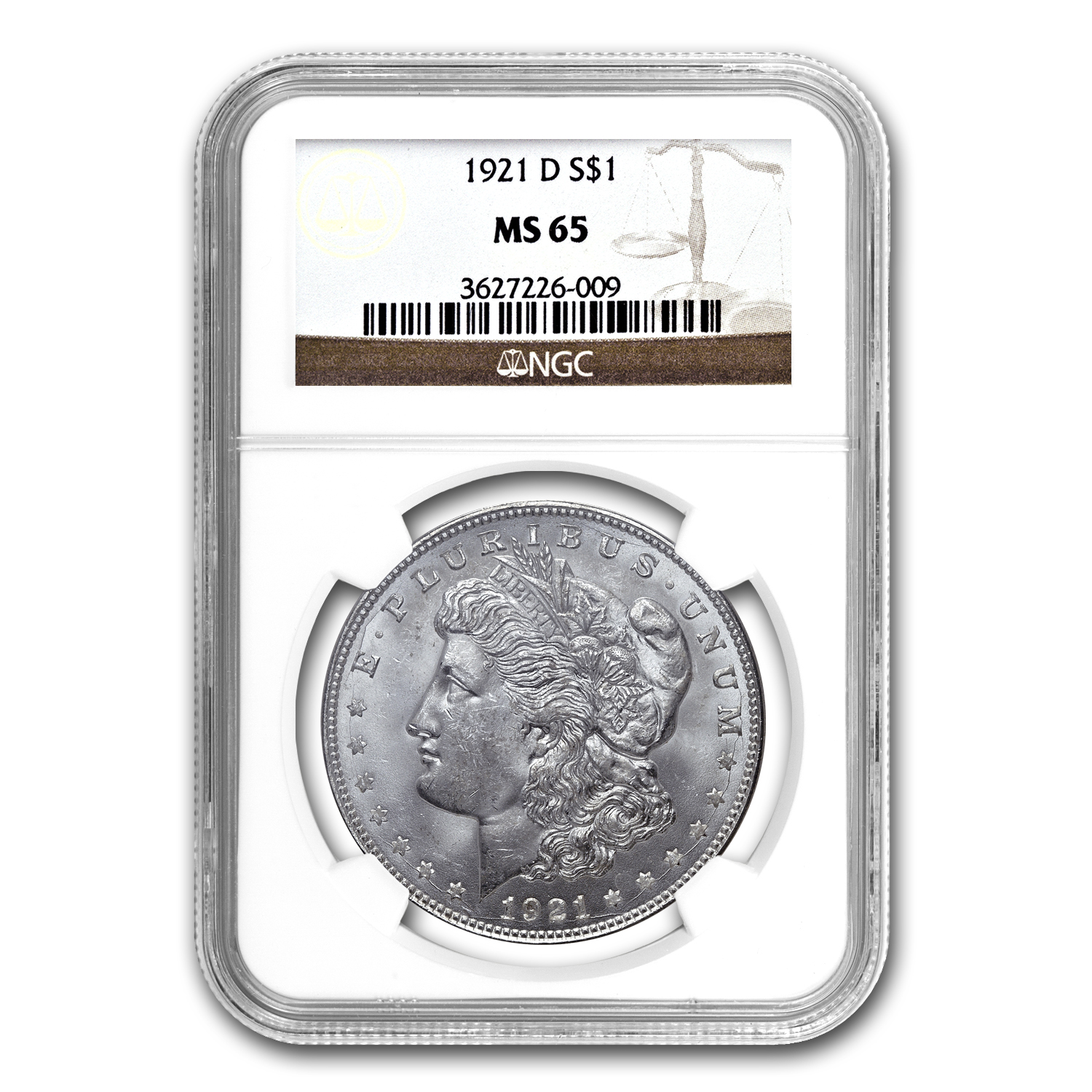 Morgan Dollar 5-Coin Mintmark Set MS-65 NGC