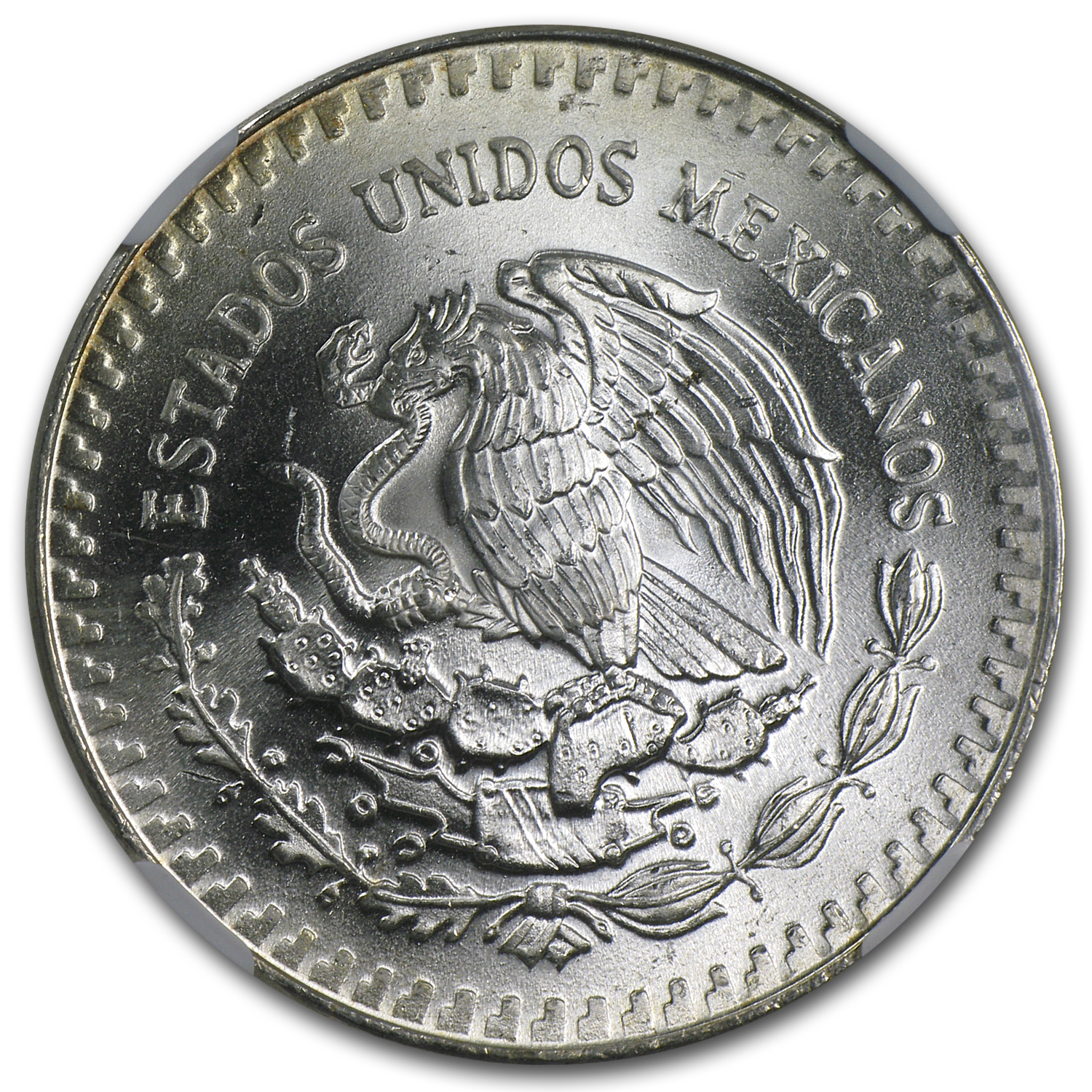 1985 Mexico 1 oz Silver Libertad MS-67 NGC (Toned)