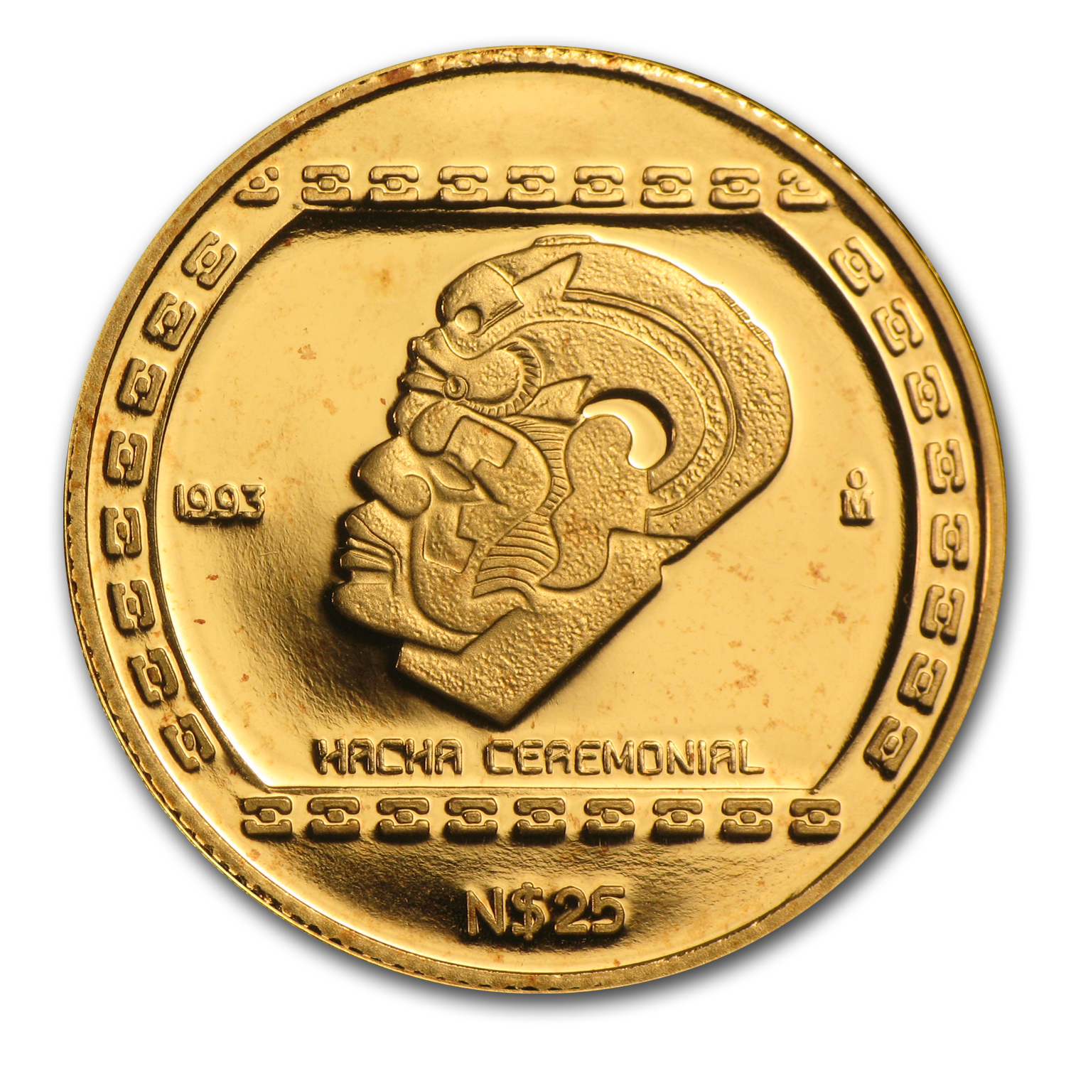 1993 Mexico 25 Pesos Gold Hacha Ceremonial Proof