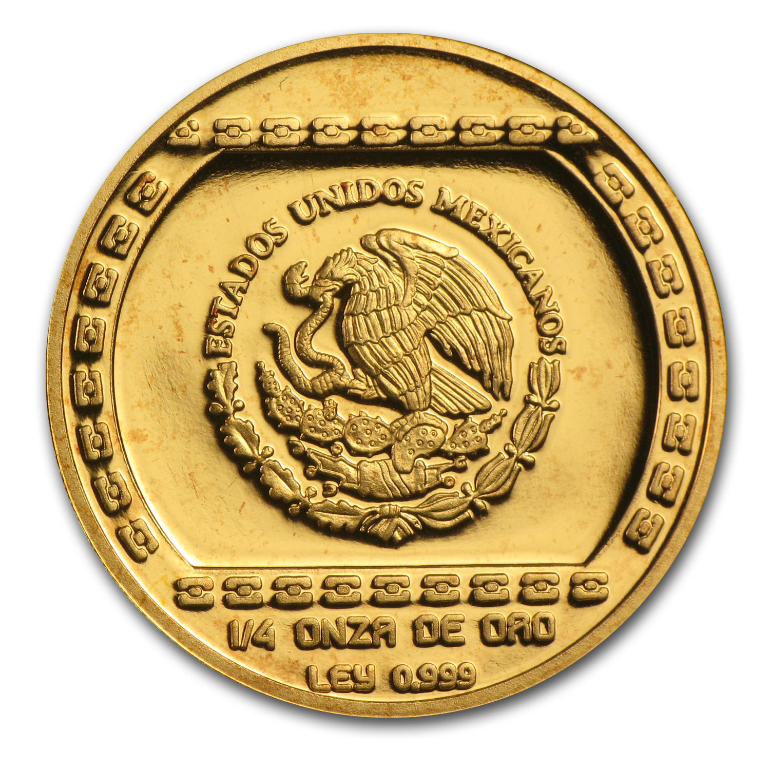 1993 Mexico Gold 25 Pesos Hacha Ceremonial Proof