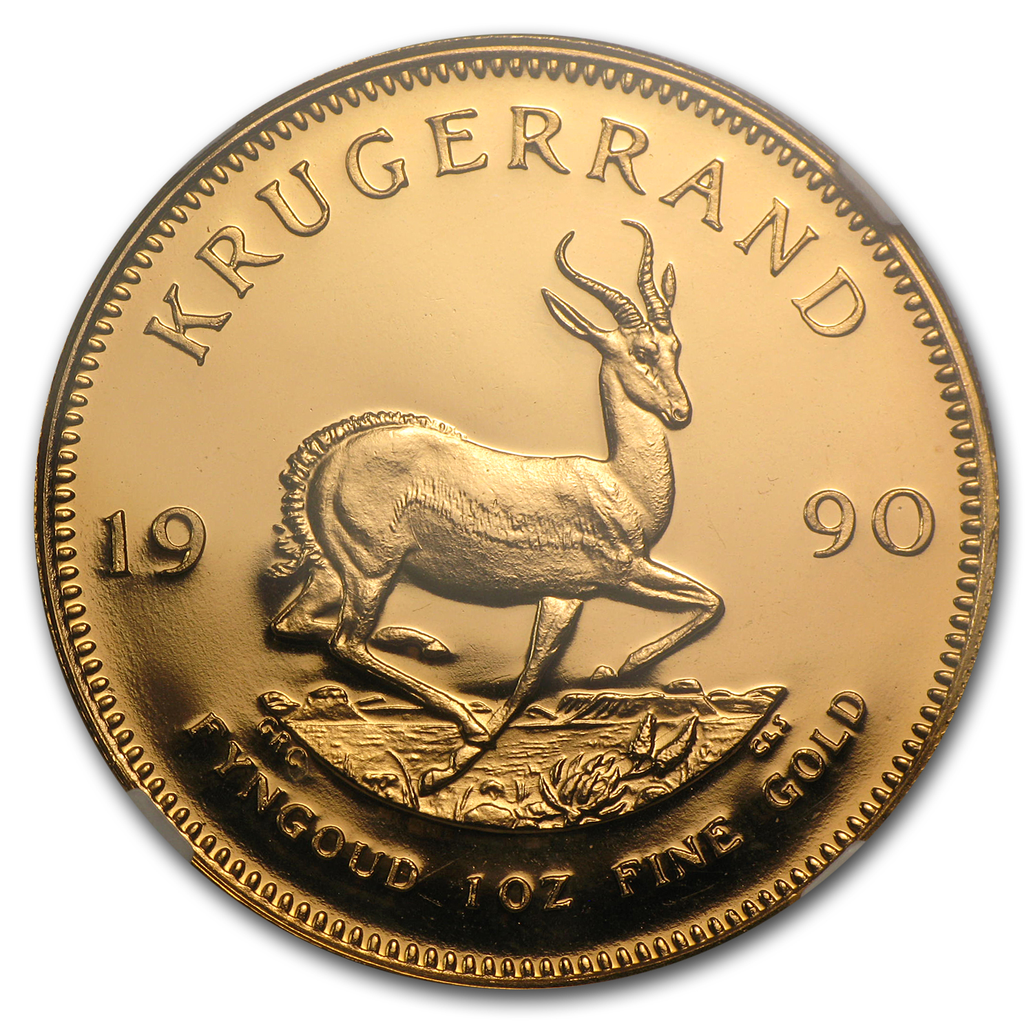 1990 South Africa 1 oz Gold Krugerrand PF-68 NGC (GRC)