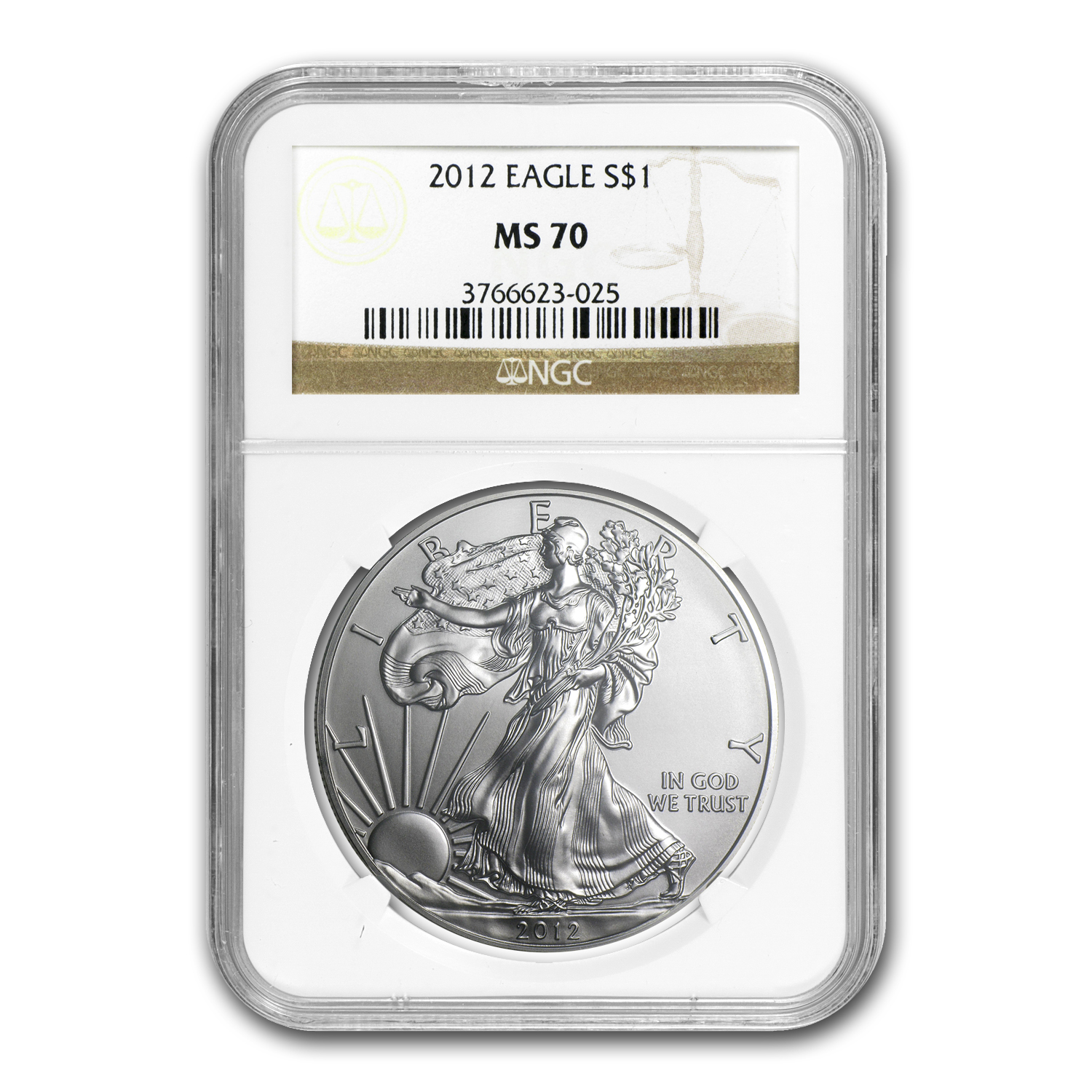 2012 Silver American Eagle MS-70 NGC