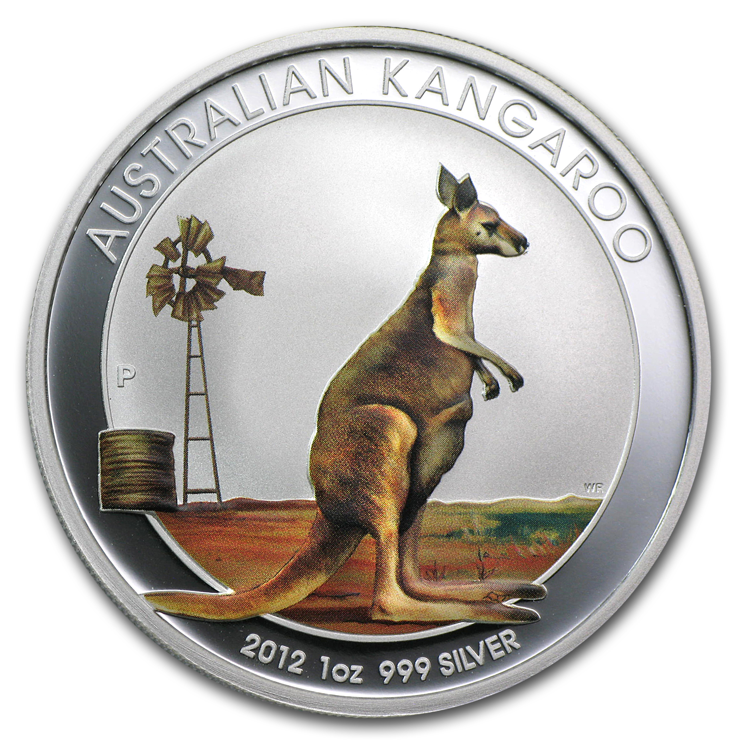 2012 1 oz Silver Colorized Kangaroo (Beijing Coin Expo)