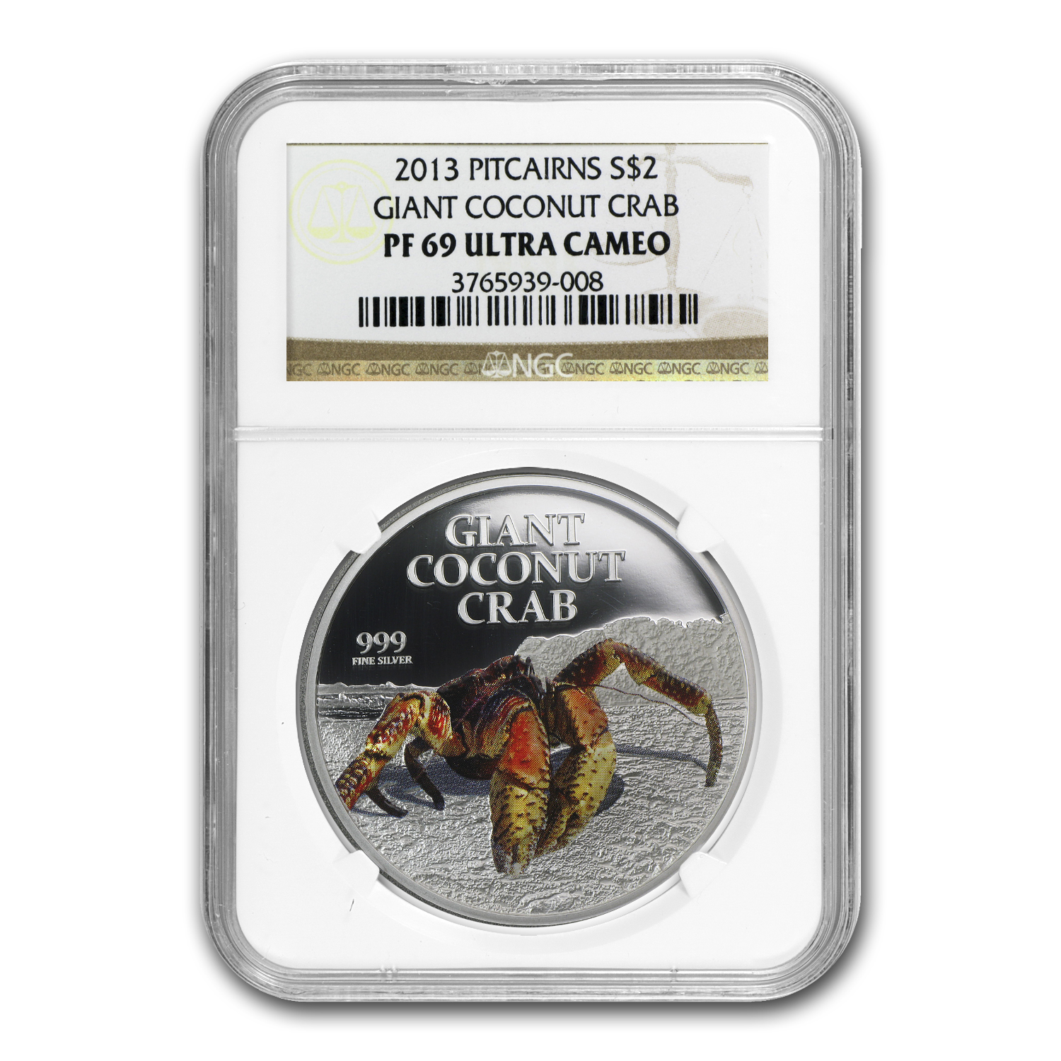 2013 Niue 1 oz Silver $2 Giant Coconut Crab PF-69 NGC