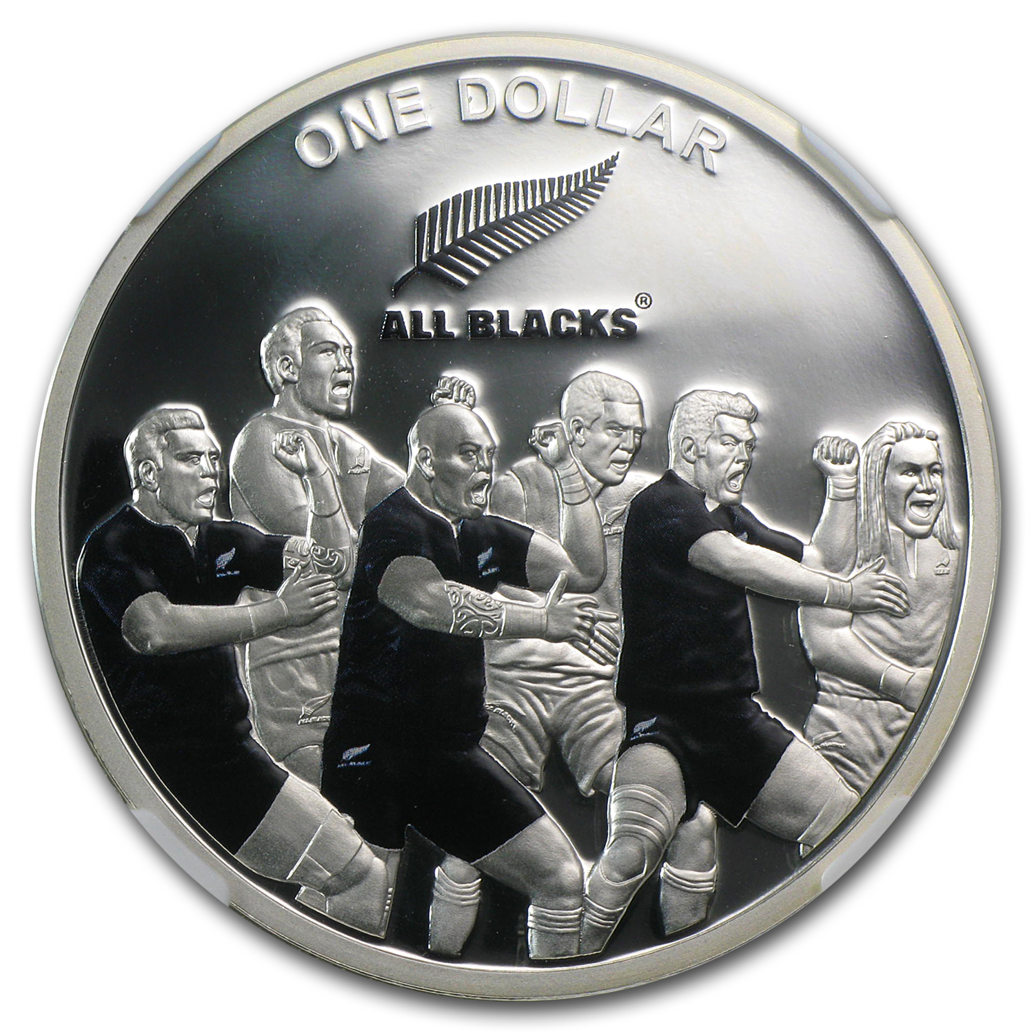 2011 1oz Silver New Zealand All Blacks The Haka NGC PF69 UCAM