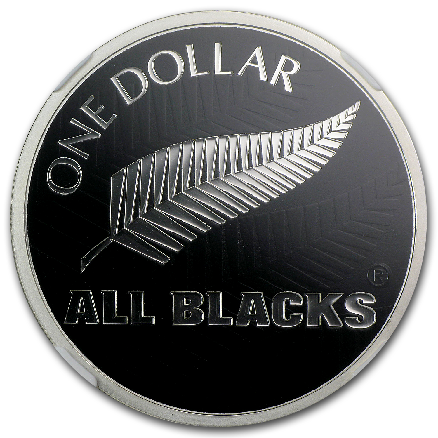 2011 New Zealand 1 oz Silver All Blacks Fern PF-69 NGC
