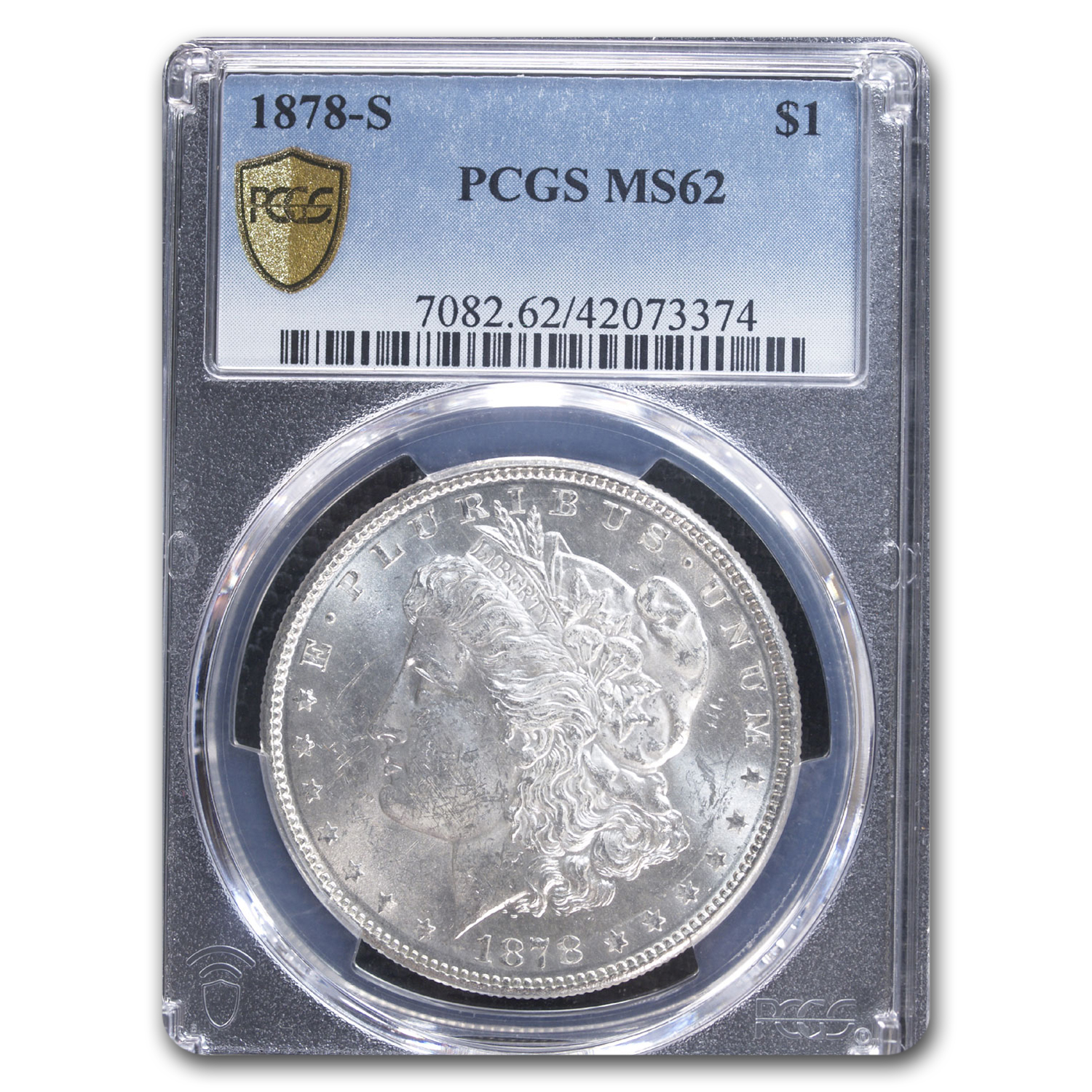 1878-S Morgan Dollar MS-62 PCGS