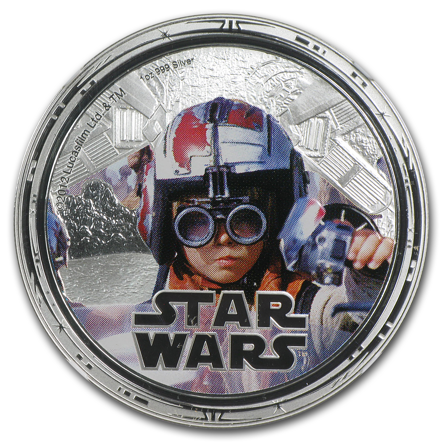 2012 Niue 1 oz Silver $2 Star Wars Anakin Skywalker PF-69 NGC