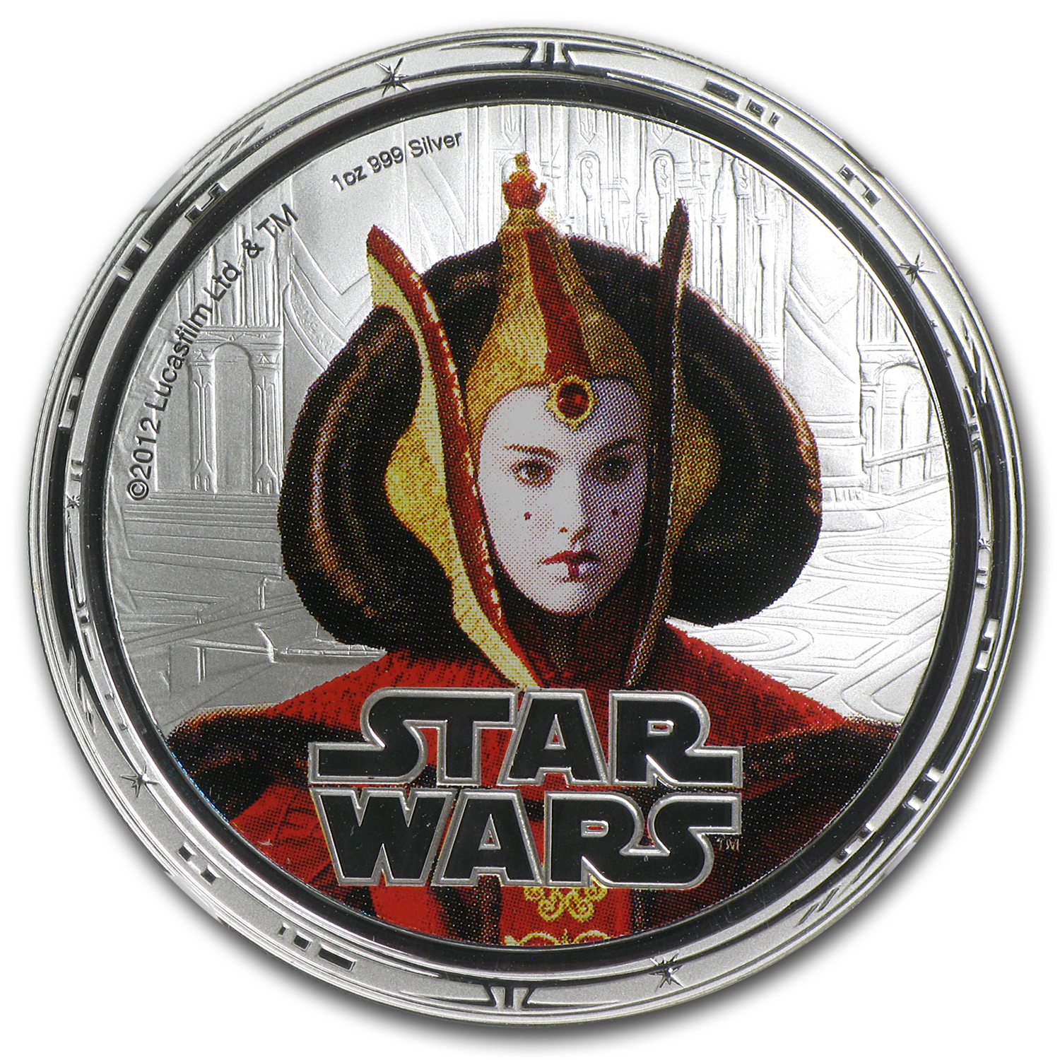 2012 Niue 1 oz Silver $2 Star Wars Queen Amidala PF-69 NGC