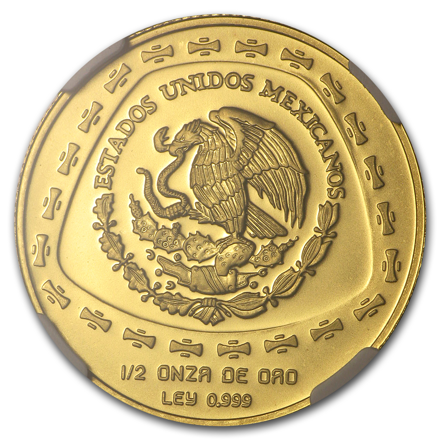 1998 Mexico 50 Pesos Gold Aguila NGC MS-68