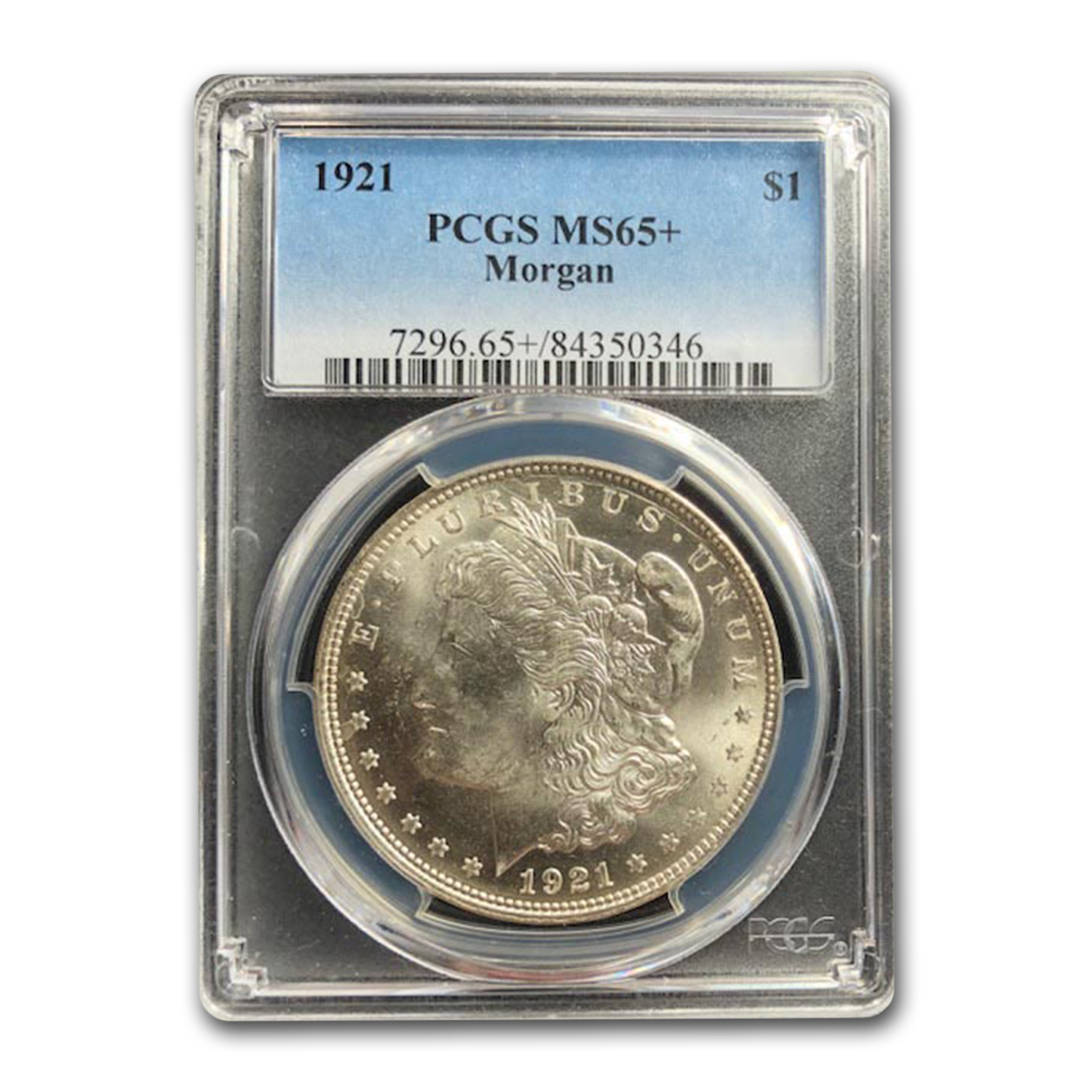 1921 Morgan Dollar - MS-65+ PCGS
