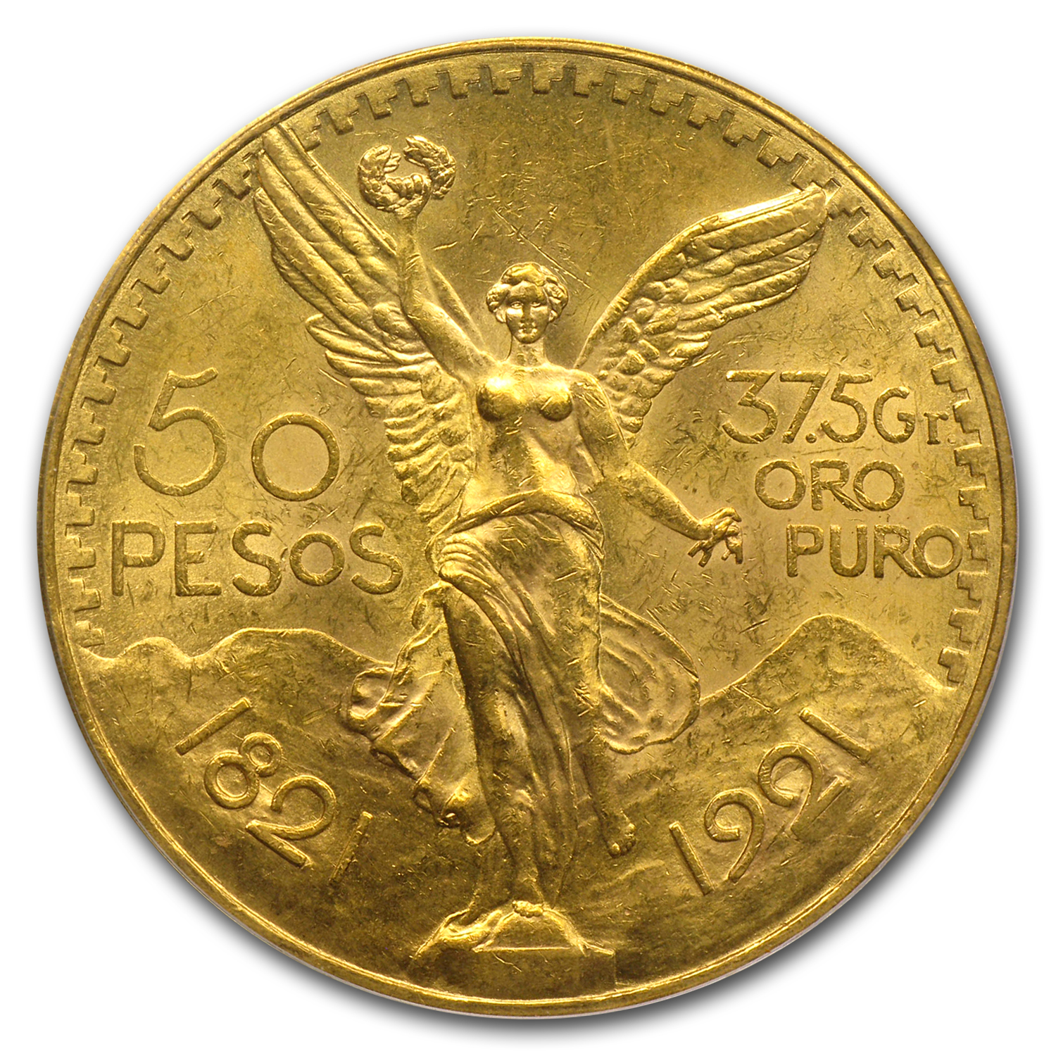 1921 Mexico 50 Pesos Gold MS-63 PCGS