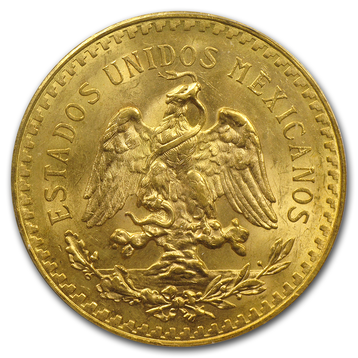 Mexico 1922 50 Pesos Gold Coin - MS-63 PCGS