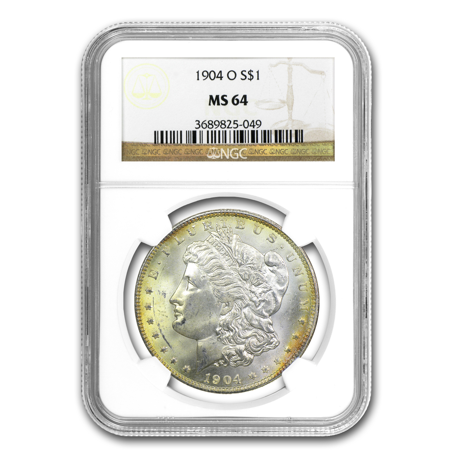 1878-1904 Morgan Dollars - MS-64 NGC - Beautifully Toned