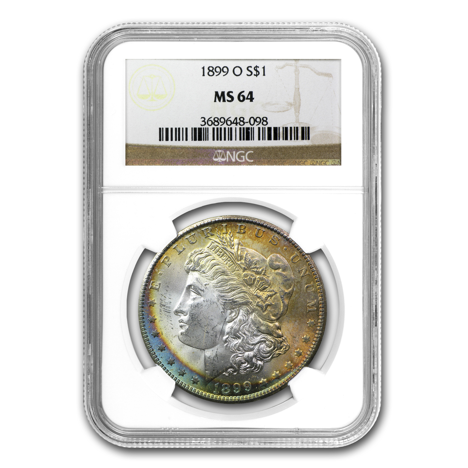 1878-1904 Morgan Dollars MS-64 NGC (Beautifully Toned)
