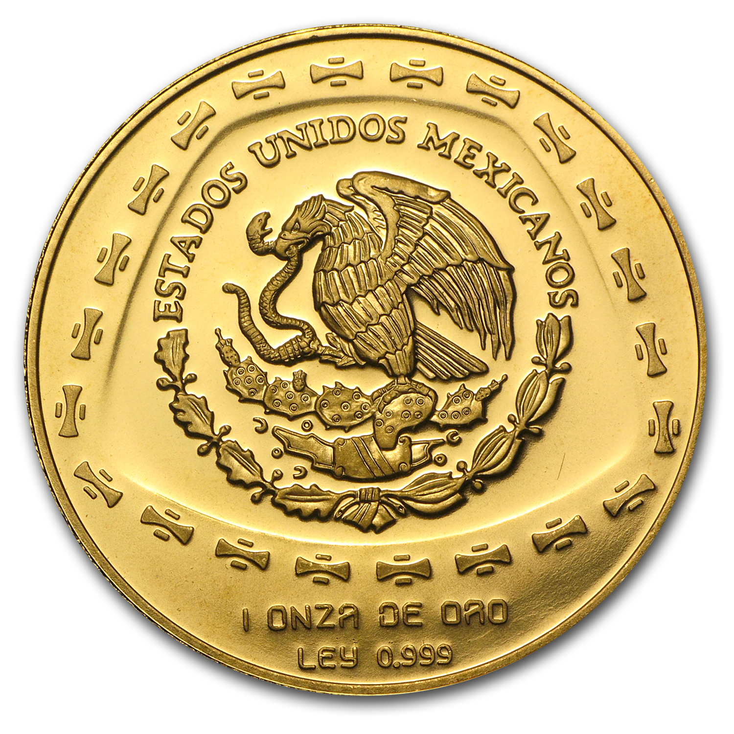 1998 Mexico 100 Pesos Gold Aguila Brilliant Uncirculated
