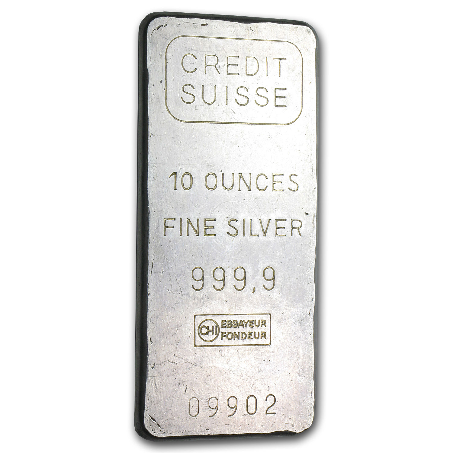 10 oz Silver Bar - Credit Suisse (Plain back)