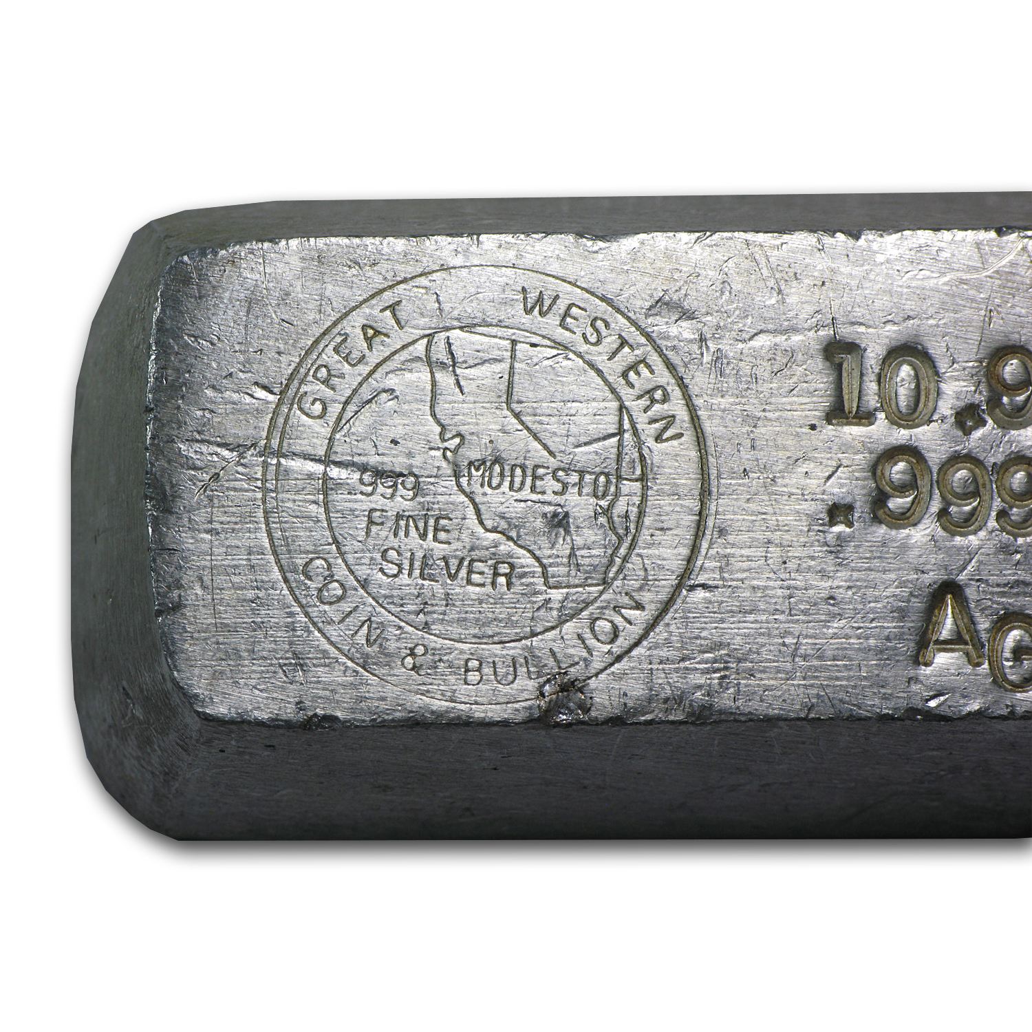 10.93 oz Silver Bar - Great Western Coin & Bullion