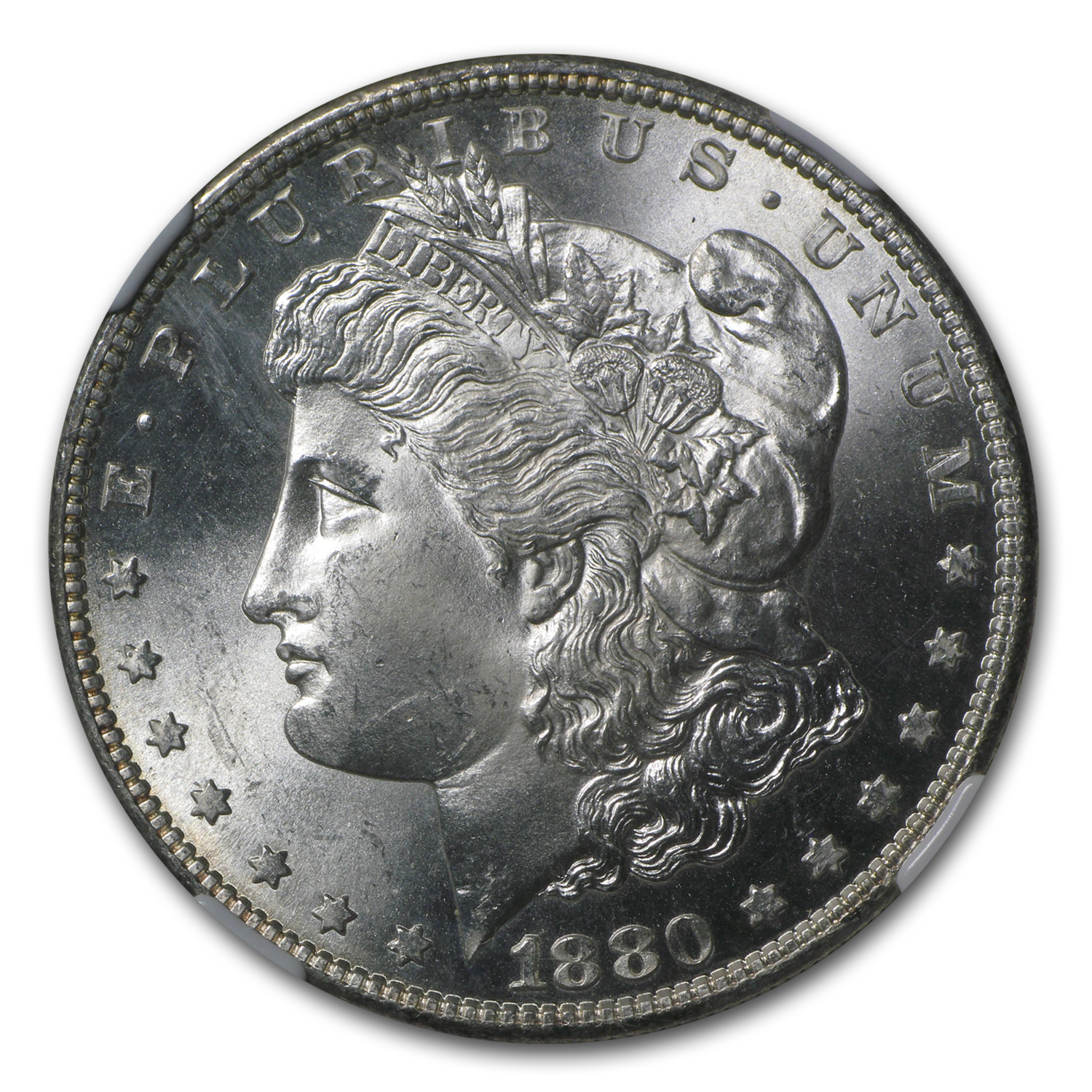 1880-S Morgan Dollar MS-64 NGC
