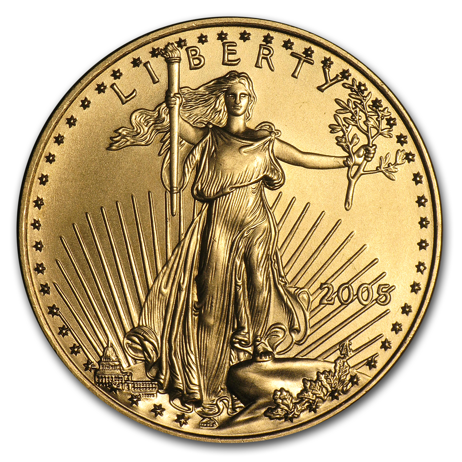 2005 1/2 oz Gold American Eagle BU